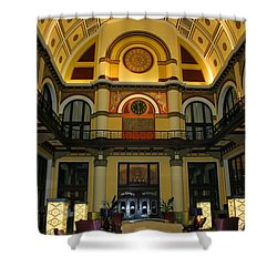 Union Station Lobby Shower Curtain by Kristin Elmquist