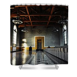 Shower Curtain featuring the photograph Union Station Los Angeles by Kyle Hanson