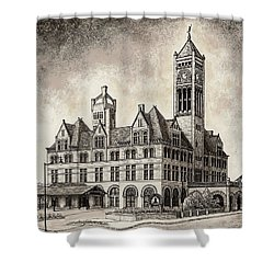 Union Station Mixed Media Shower Curtain