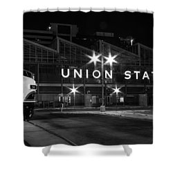 Union Station Night Glow Shower Curtain