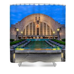 Union Terminal At Sunrise II Shower Curtain by Keith Allen