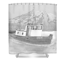 Tugboat Union Shower Curtain