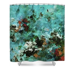 Shower Curtain featuring the painting Unique Abstract Art / Landscape Painting by Ayse Deniz