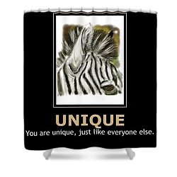 Unique Motivational Poster Shower Curtain