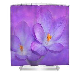 Unison Shower Curtain by Iryna Goodall