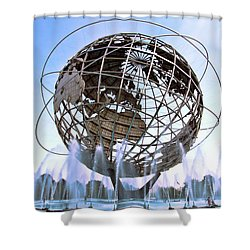 Unisphere With Fountains Shower Curtain