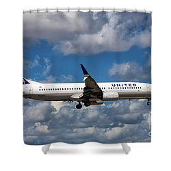 United Airlines Boeing 737 Ng Shower Curtain