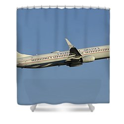 United Boeing 737-924 N75436 Retro Continental Phoenix Sky Harbor December 9 2015 Shower Curtain by Brian Lockett