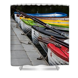 United Colors Of Boats Shower Curtain by Edgar Laureano