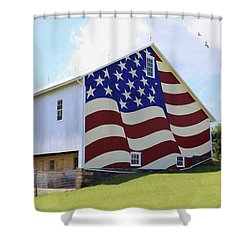 United I Stand Shower Curtain