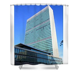 Shower Curtain featuring the photograph United Nations 1 by Randall Weidner