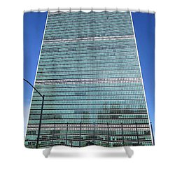 Shower Curtain featuring the photograph United Nations 3 by Randall Weidner