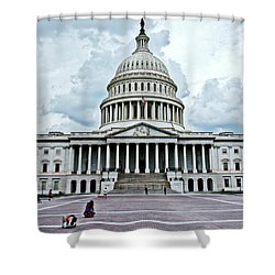 Shower Curtain featuring the photograph United States Capitol by Suzanne Stout