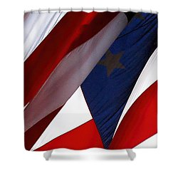 United States Flag Abstract Shower Curtain