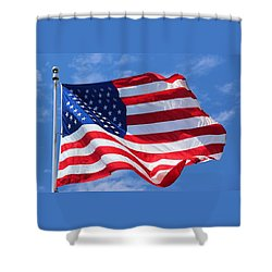 United States Flag Shower Curtain by Elizabeth Budd