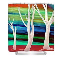 Shower Curtain featuring the photograph United Trees by Munir Alawi