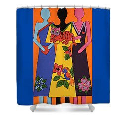 Shower Curtain featuring the painting Unity 6 by Stephanie Moore