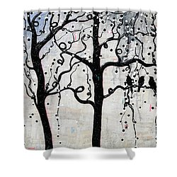 Shower Curtain featuring the mixed media Unity by Natalie Briney