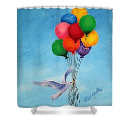 Unity Shower Curtain by Pamela Allegretto