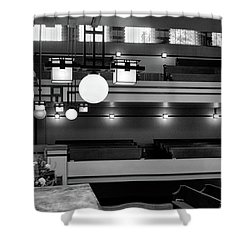 Unity Temple Interior Black And White Shower Curtain