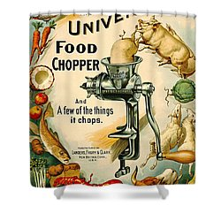 Universal Food Chopper 1897 Shower Curtain by Padre Art
