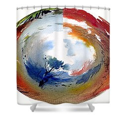 Universe Shower Curtain by Anil Nene
