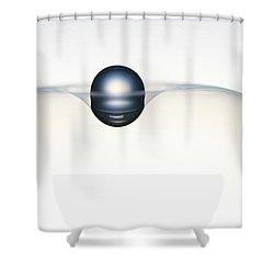 Universe Balance 1. Minimalism Shower Curtain