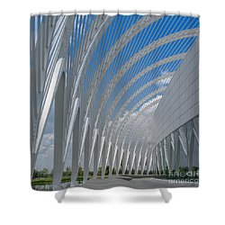 University Arching Lines Shower Curtain