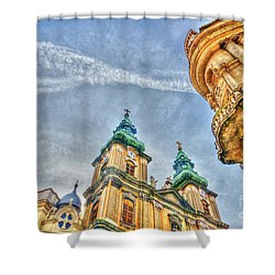 University Church In Budapest Shower Curtain