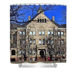 University Hall Shower Curtain