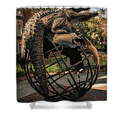 Shower Curtain featuring the photograph University Of Florida Sculpture by Joan Carroll