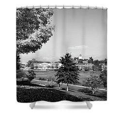 University Of North Georgia In Black And White Shower Curtain