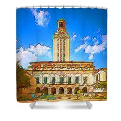 University Of Texas Shower Curtain