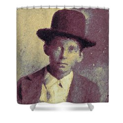 Unknown Boy In A Bowler Hat Shower Curtain