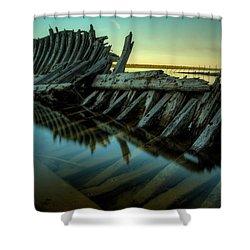 Unknown Shipwreck Shower Curtain by Jakub Sisak