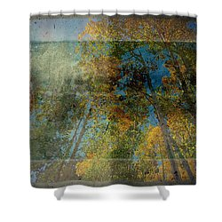 Unmanned Shower Curtain by Mark Ross