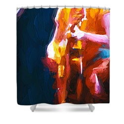 Unplugged Shower Curtain by Bob Orsillo