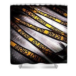 Unravelling Crime Investigation Shower Curtain