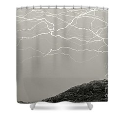 Unreal Lightning Shower Curtain