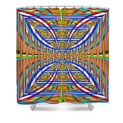 Shower Curtain featuring the digital art Unreal Perspective by Mario Carini