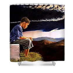 Unscarred Mountain Shower Curtain