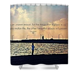 Unseen Reason Shower Curtain