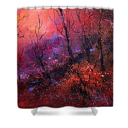 Unset In The Wood Shower Curtain by Pol Ledent