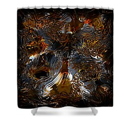 Shower Curtain featuring the digital art Unsong by Vadim Epstein