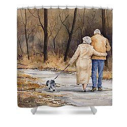 Unspoken Love Shower Curtain