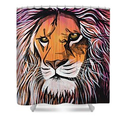 Shower Curtain featuring the painting Untamed Goodness by Nathan Rhoads
