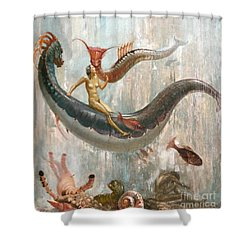 Shower Curtain featuring the painting Unterwasserszene by Pg Reproductions
