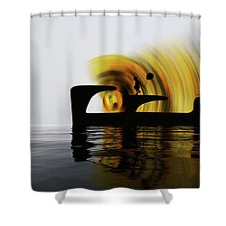 Until The Day God Will Deign To Reveal The Future To Man Shower Curtain by Sir Josef - Social Critic -  Maha Art