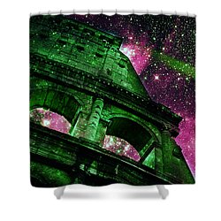 Until The Last Star Falls II Shower Curtain by Aurelio Zucco