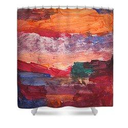 untitled 109 Original Painting Shower Curtain